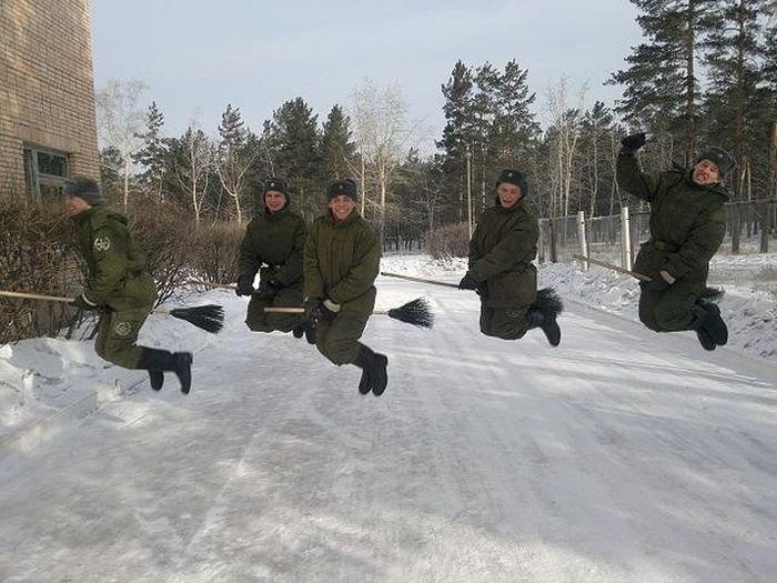Прикольное фото про армию