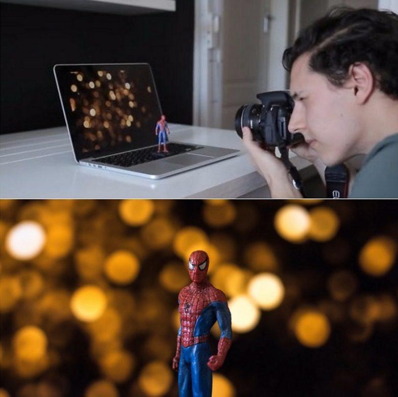 эффекты в фотосъемке глаза партнёру