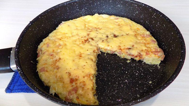 Быстрый завтрак из капусты с колбасой
