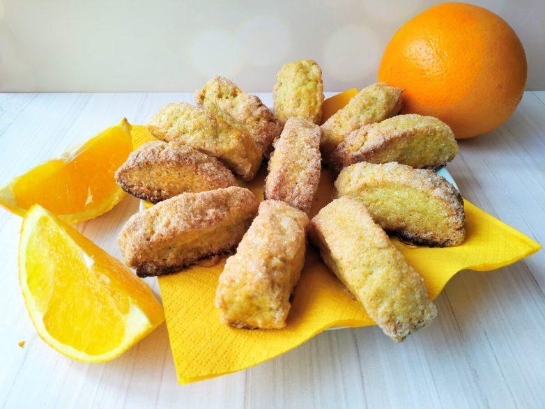 Сахарное апельсиновое печенье (без яиц и без сливочного масла)