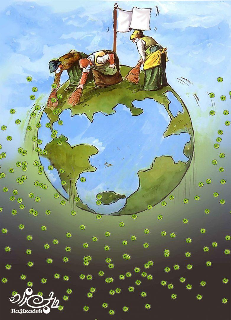 Карикатуры со всего мира на тему коронавируса