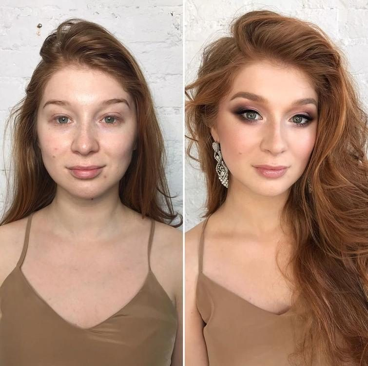 герой разница с макияжем и без фото молодой