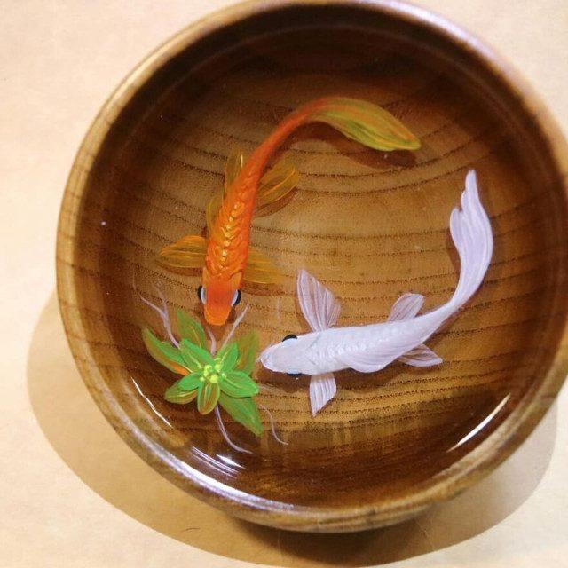 Рыбки, драконы и другие существа из смолы