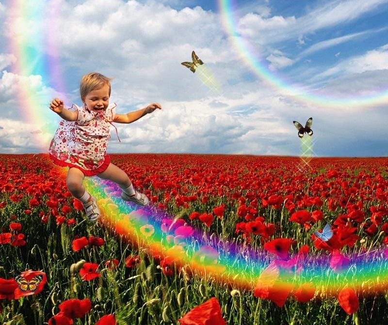 Картинки радости и счастья радуга