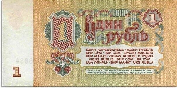 Курс советского рубля сегодня