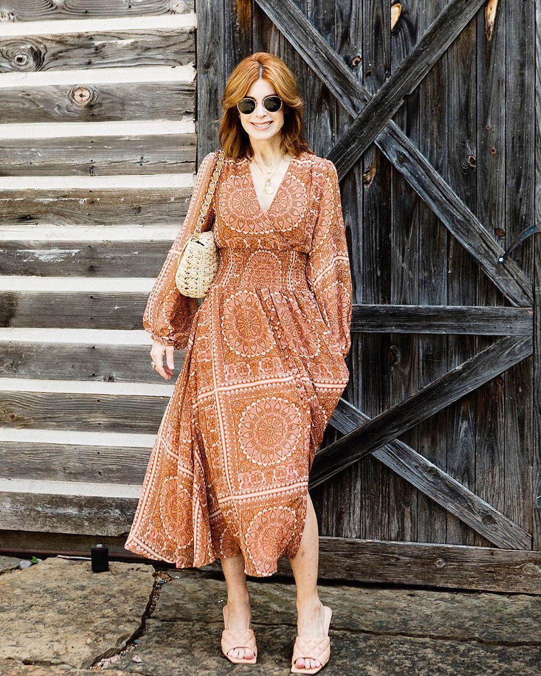 Модные летние платья для женщин после 40