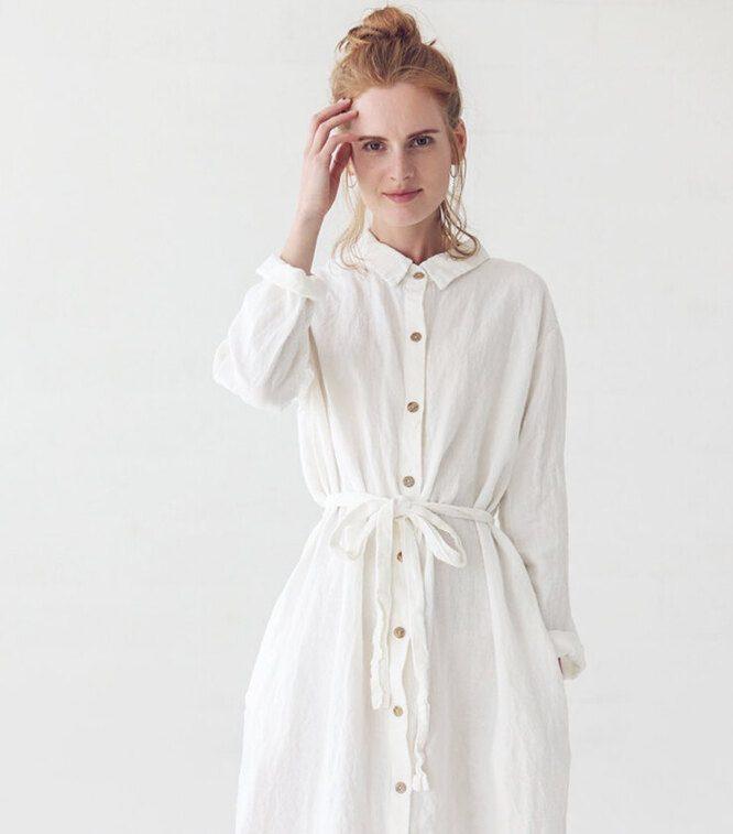 Как и с чем носить платье-рубашку
